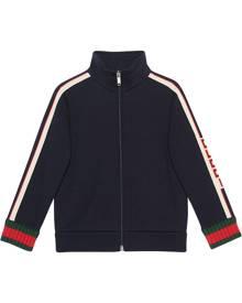 Gucci Kids Children's sweatshirt with Gucci jacquard trim - Blue