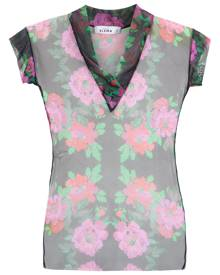 Amir Slama floral tulle blouse - Black
