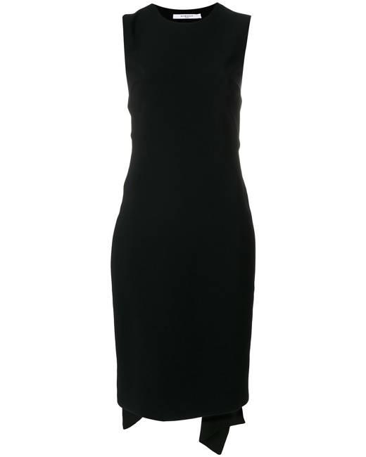 Givenchy open back tie waist dress - Black