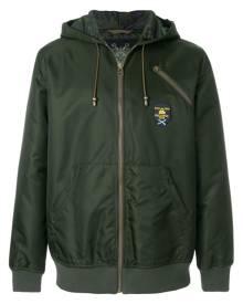Mr & Mrs Italy logo print zipped hoodie - Green
