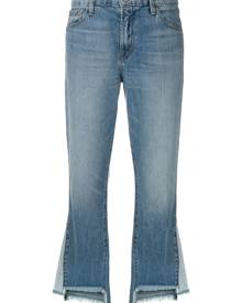 J Brand - raw edge flared jeans - women - Cotton/Lyocell - 25, 26, 27, 24, 28, 29, 30, 31 - BLUE