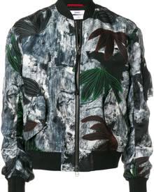 OAMC painterly floral bomber jacket - Black