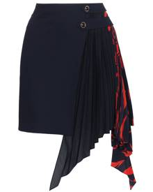 Givenchy pleated Godet mini skirt - Blue