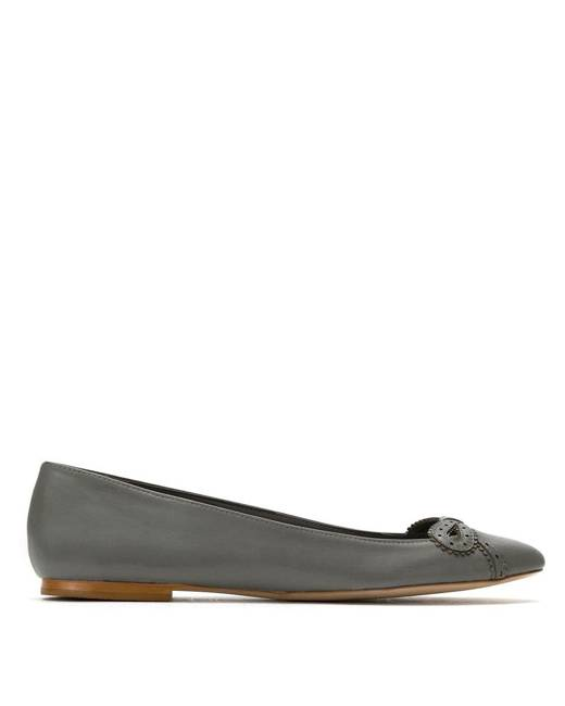 Sarah Chofakian leather ballerinas - Grey