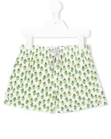 Mc2 Saint Barth Kids Cactus print swim shorts - Green
