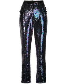 Balmain - sequin embellished trousers - women - Polyester - 38, 40 - MULTICOLOUR