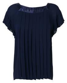 Yves Saint Laurent Vintage pleated loose blouse - Blue