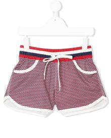 Perfect Moment Kids zigzag resort shorts - Red