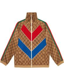 Gucci GG technical jersey jacket - Brown