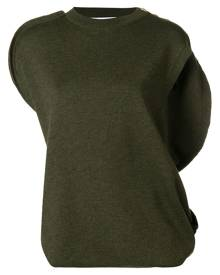JW Anderson asymmetric knitted top - Green