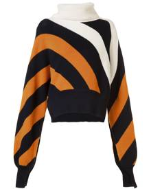 Monse striped turtleneck jumper - Yellow & Orange