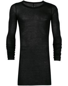 Rick Owens draped long sleeve T-shirt - Black