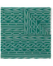 Moschino Vintage frayed logo scarf - Green