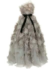 Marchesa strapless tulle degrade layered dramatic ballgown - Grey