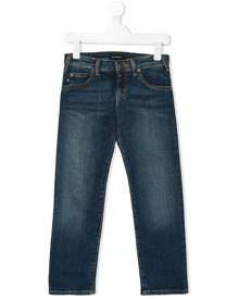Emporio Armani Kids straight leg denim jeans - Blue
