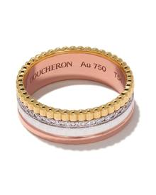 Boucheron 18kt rose, white and yellow gold Diamond Quatre White small ring - 3G