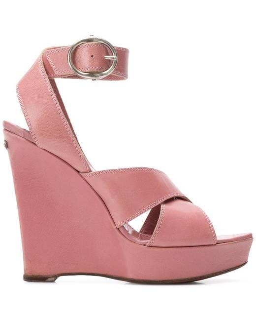 f55cf31434b 2000's wedge sandals - Pink