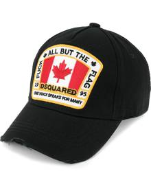 Dsquared2 Canadian flag patch baseball cap - Black