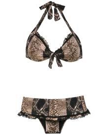 Amir Slama printed bikini set - Black
