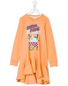 Fendi Kids Cotton Candy sweatshirt dress - Pink