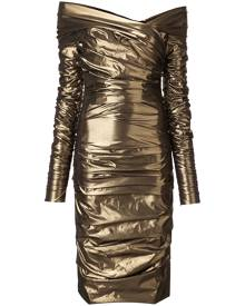 Dolce & Gabbana draped midi dress - Gold