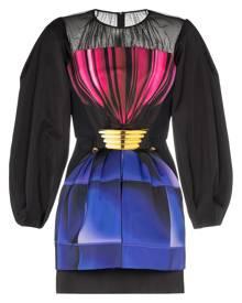 Mary Katrantzou diamond glaze drawstring waist dress - Black