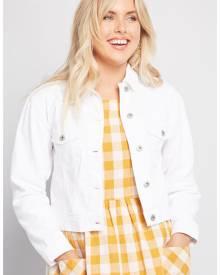 ModCloth Obvious Add Denim Jacket in XS - Long Sleeve Trucker Jacket Short Length Minimal
