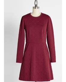 Black Cherry Soda Pop Knit Cotton Dress in XL - Long A-Line Mini Modest by Hutch from ModCloth