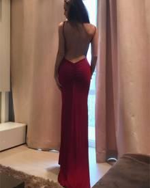 ivrose Elegant Women Open Back Maxi Slip Dress