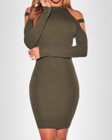 ivrose Sexy Cut Out Bodycon Dress