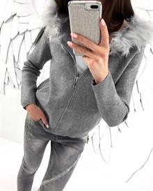 ivrose Autumn Hooded Faux Fur Coat