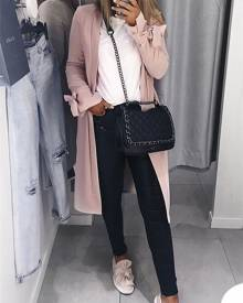 ivrose Split Bow Tied Sleeve Casual Trench Coat