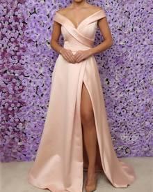 ivrose Off Shoulder High Split Evening Dress