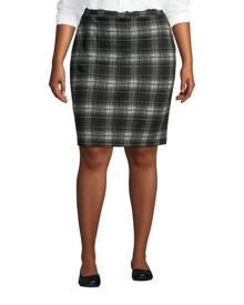 lands end Sport Knit Pencil Skirt, Women, Size: 24-26 Plus, Black, Spandex, by Lands' End