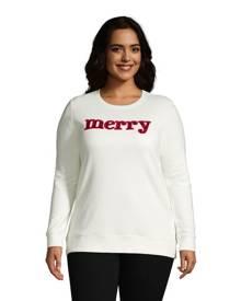 lands end Serious Sweats Sweatshirt Tunic, Women, Size: 20-22 Plus, Cotton-blend, by Lands' End