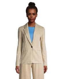lands end Jacquard Sport Knit Blazer, Women, Size: 8 Regular, Tan, Spandex, by Lands' End