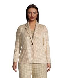 lands end Jacquard Sport Knit Blazer, Women, Size: 20-22 Plus, Tan, Spandex, by Lands' End