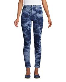 lands end High Waisted Slim Ankle Jeans, Women, Size: 18 Regular, Blue, Spandex, by Lands' End