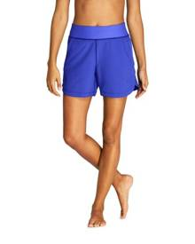 lands end Lands' End Women's AquaSport Comfort Waist 5'' Swim Shorts - 10, Blue