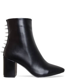 Simmi London Jordana Black Spike Block Heel Ankle Boots
