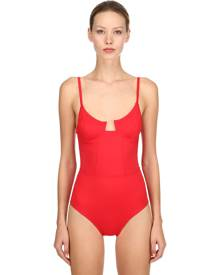 SOLID & STRIPED RE DONE ONE PIECE SWIMSUIT W/ UNDERWIRE