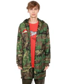 MAHARISHI HOODED CAMO QUILTED NYLON PARKA