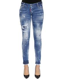 DSQUARED2 DESTROYED COTTON DENIM JEANS
