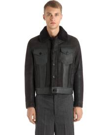 NEIL BARRETT SUEDE & LEATHER JACKET W/ SHEARLING