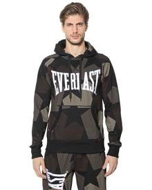EVERLAST PORTS Printed Hooded Cotton Sweatshirt
