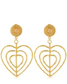 SYLVIA TOLEDANO VALENTINE CLIP-ON EARRINGS