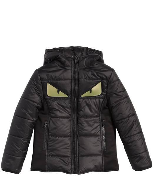 Monster Eyes Hooded Nylon Puffer Jacket