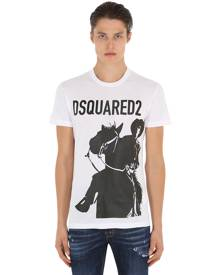 DSQUARED2 RODEO PRINTED COTTON JERSEY T-SHIRT