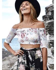 Fortunate One Daily Ritual Crop Top White