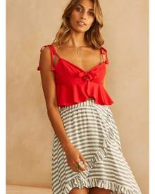Fortunate One Deep Sea Diver Crop Top Red